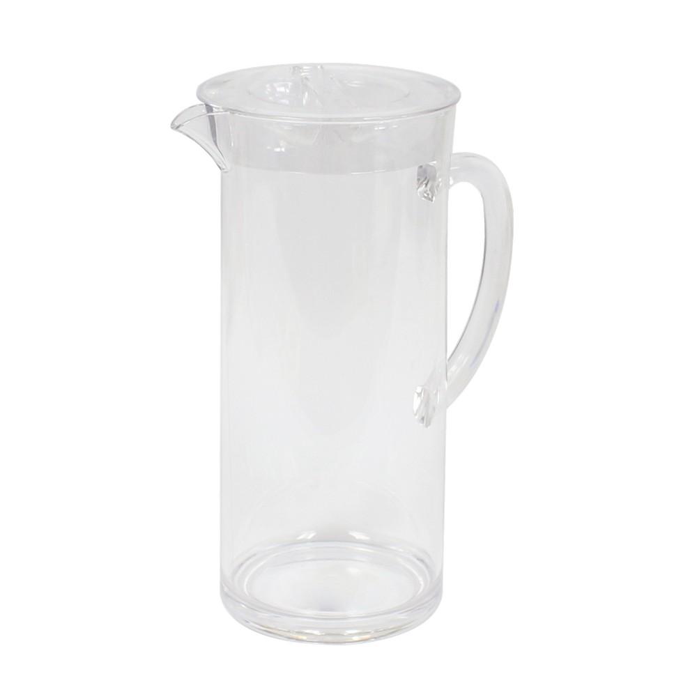 Pichel acrílico transparente de 2 litros base redonda