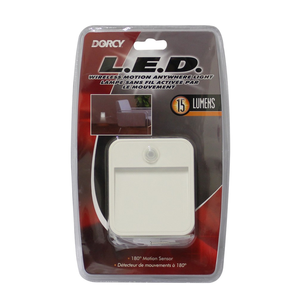 Detector de movimiento inalámbrico de pared con luz led