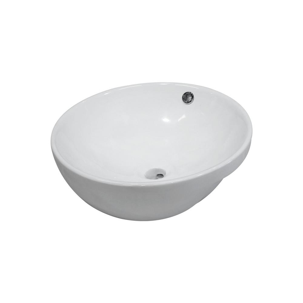 Lavamanos de porcelana redondo blanco