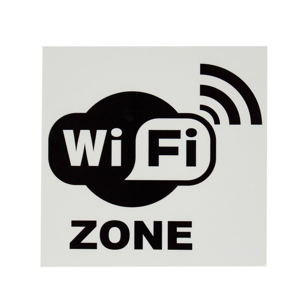 Rotulo wifi zone 20x20cm