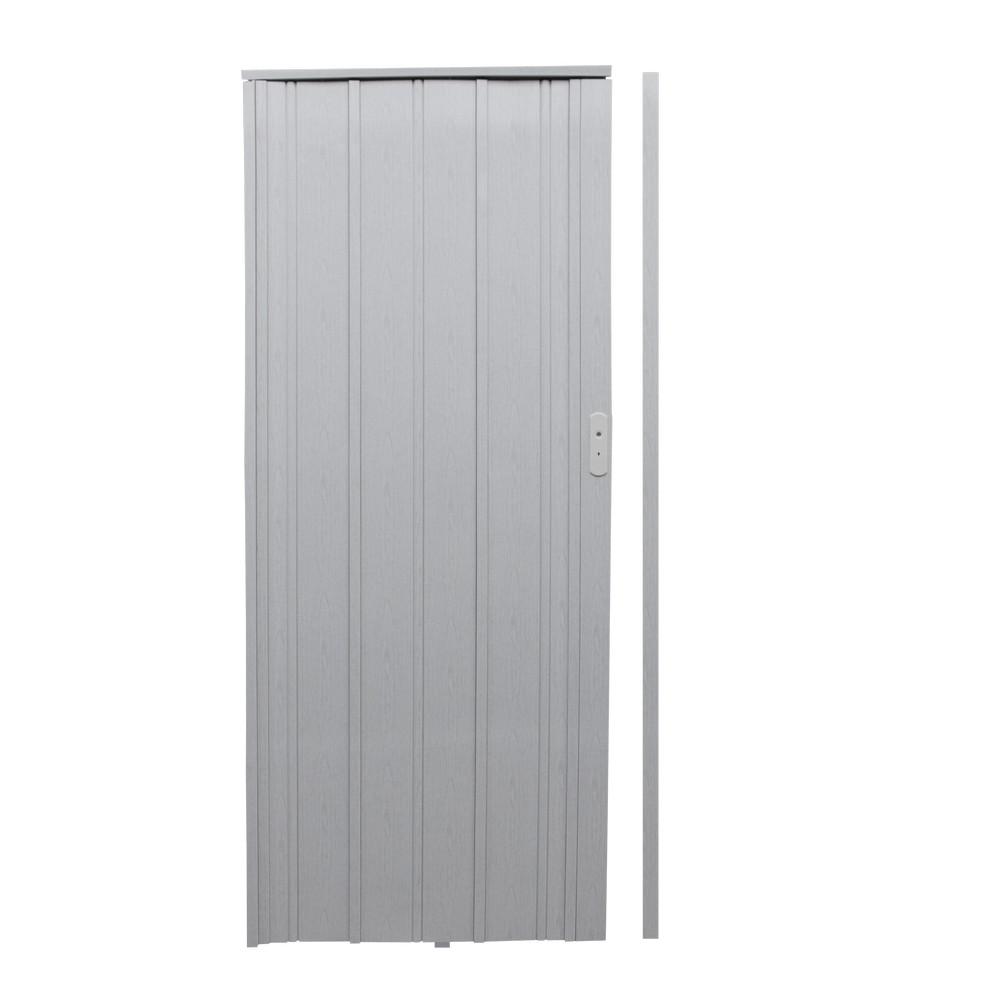 Puerta plegable 86x210 cm 12mm blanca