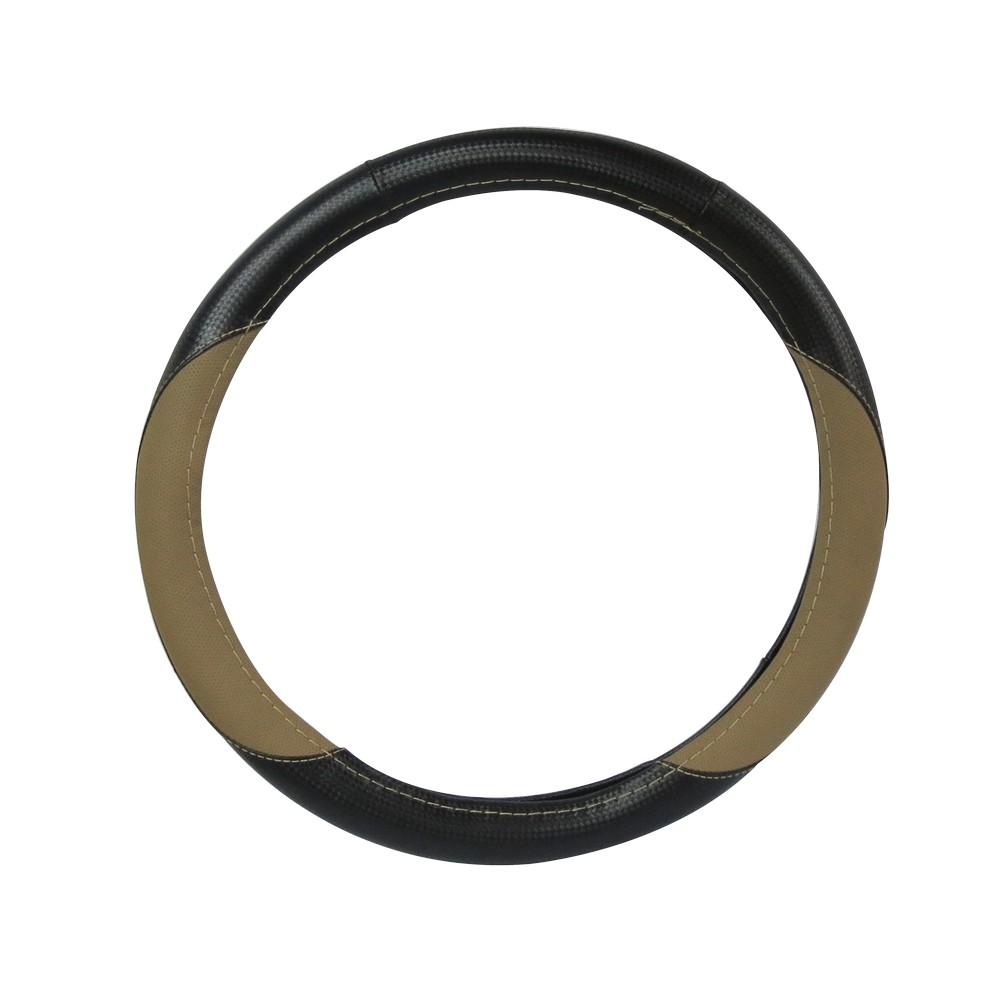 Forro para timon negro/beige huili hl618bk/be