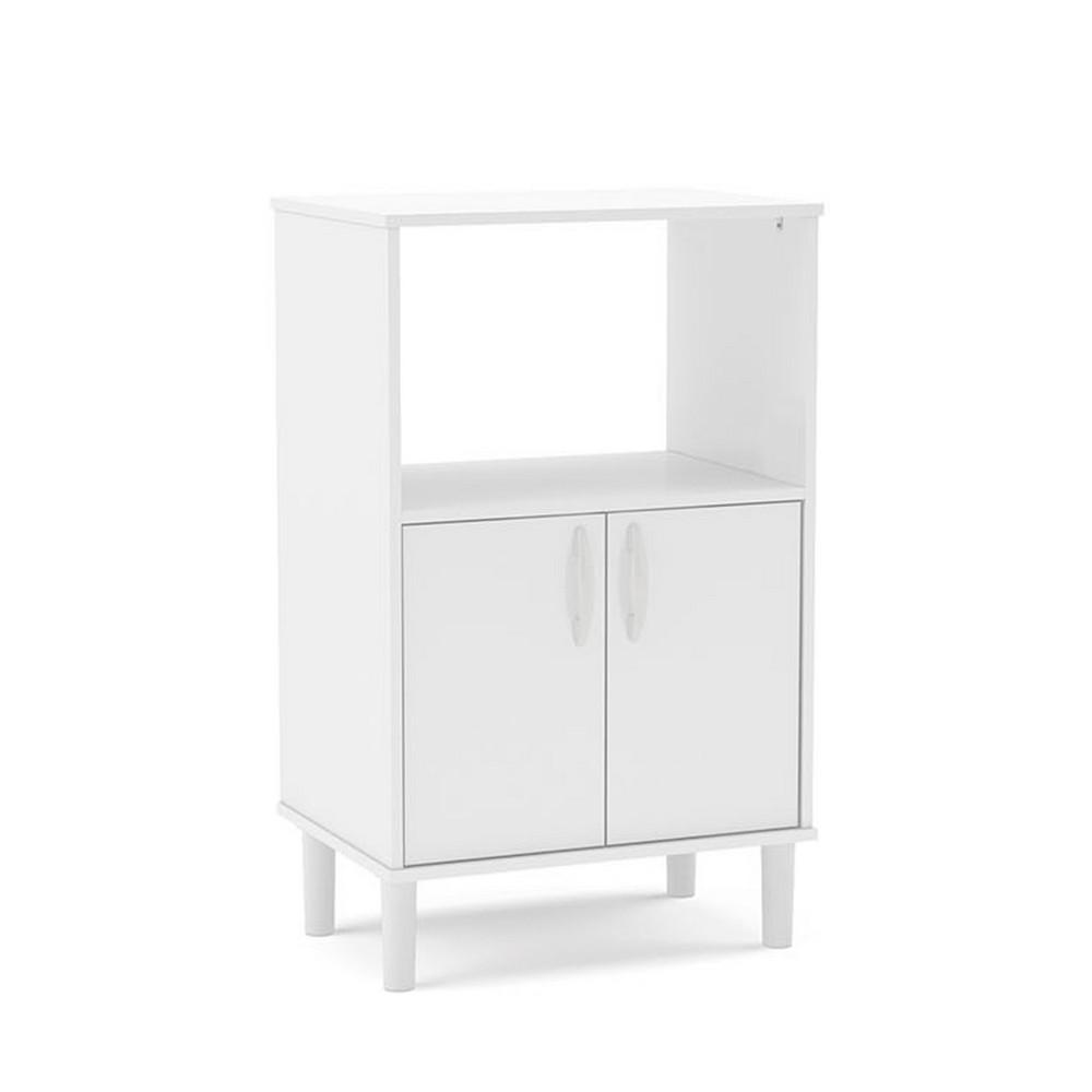 Mueble blanco para microondas muebles para interior politorno - Muebles auxiliares para microondas ...