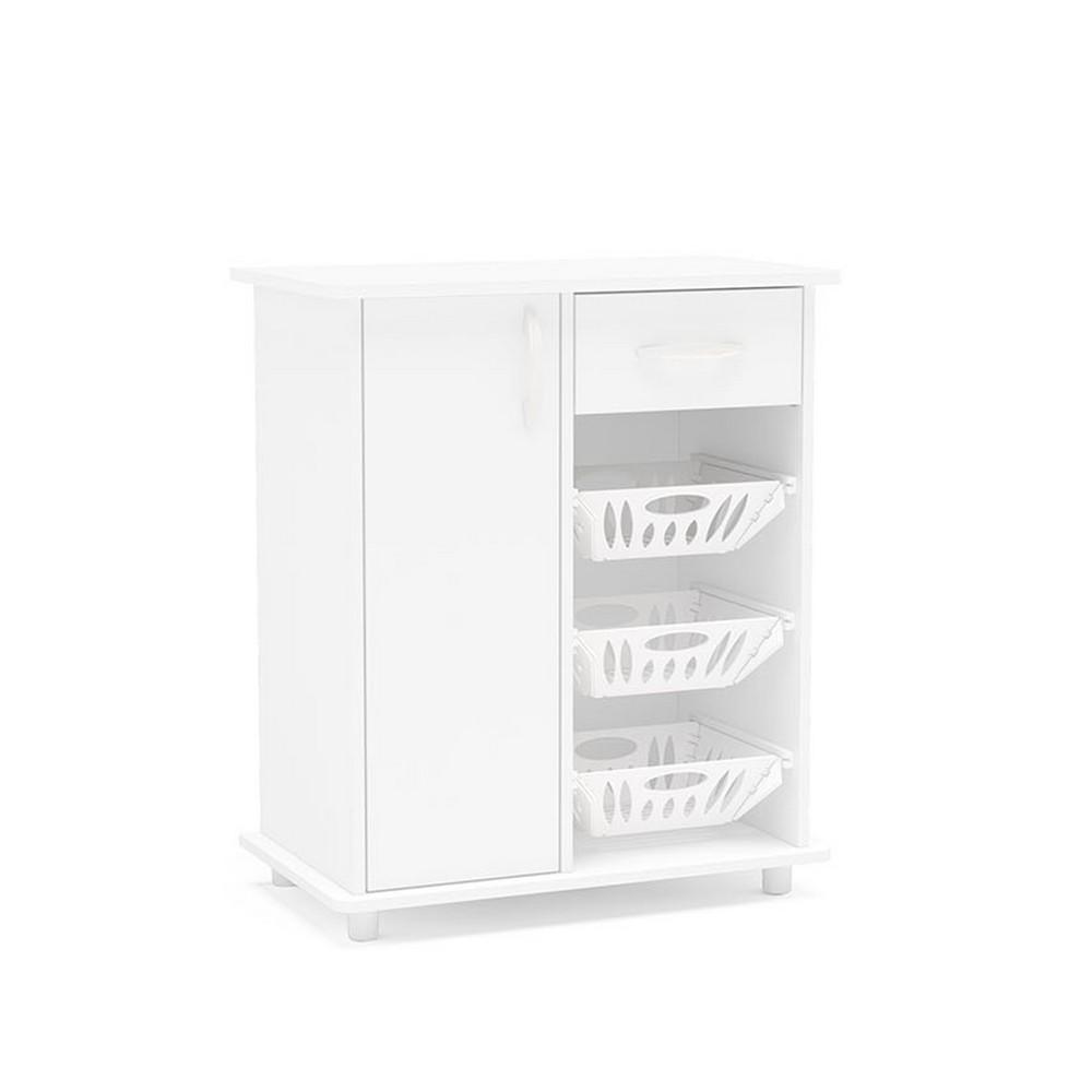 Organizador para cocina sinop color blanco muebles for Mueble platero para cocina