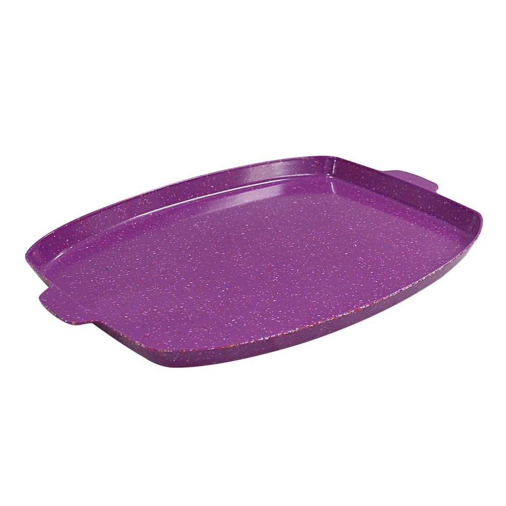 Bandeja rectangular de 15.4 pulgadas sprinkles morado