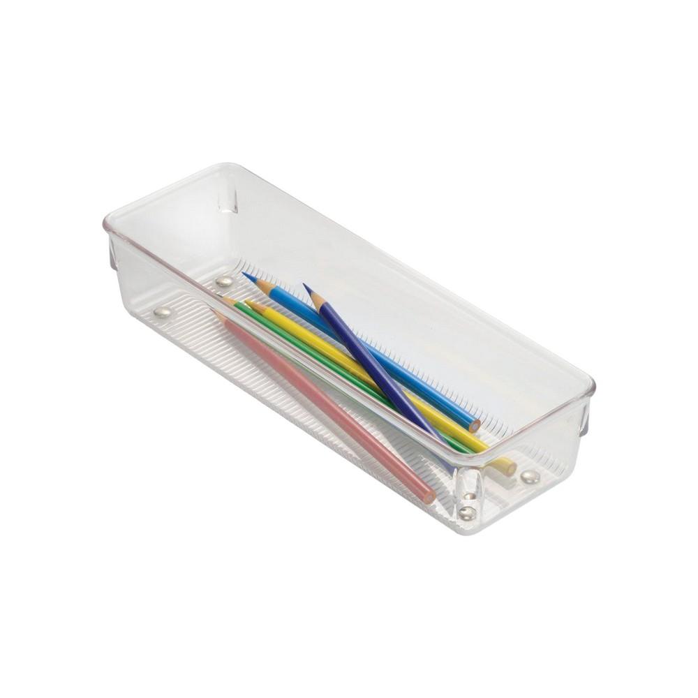 Caja organizadora plástica transparente de 3x9x2 pulgadas