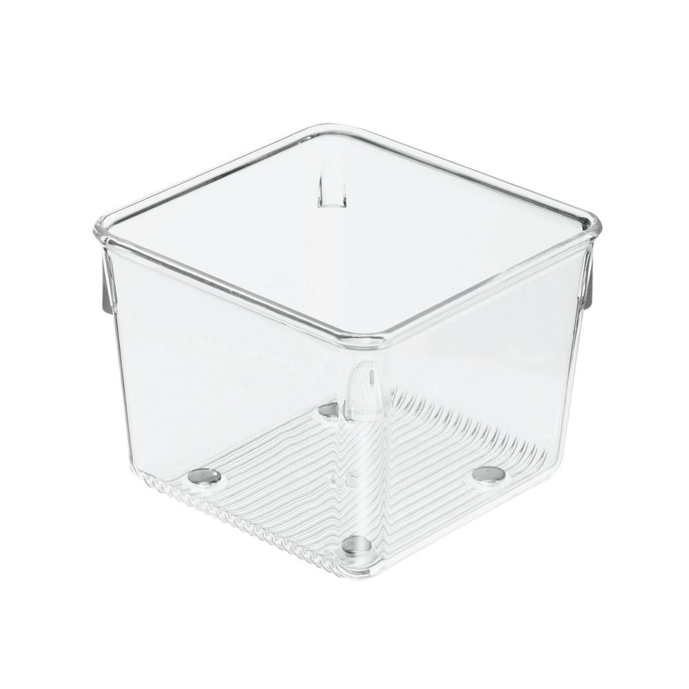 Caja organizadora plástica transparente de 4x4x3 pulgadas