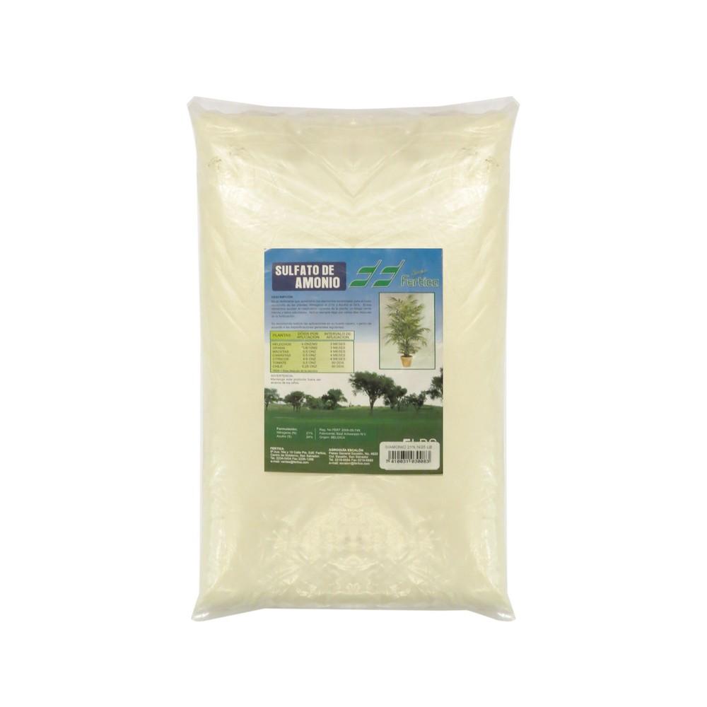 Fertilizante sulfato amonio 25 lb