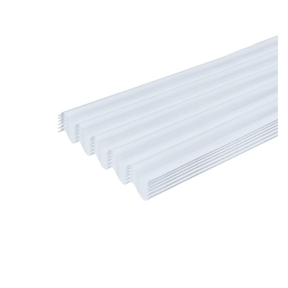 Lámina de policarbonato transparente 6 pies blanca