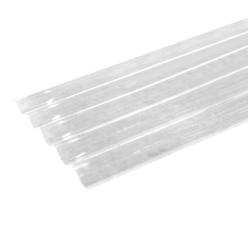 L mina de policarbonato transparente perfil 7 de 10 pies - Laminas de plastico transparente ...
