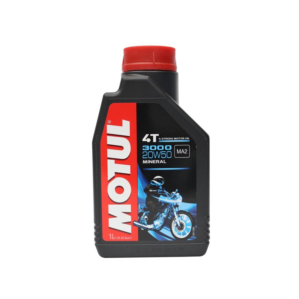 Aceite mineral para motocicleta 4 tiempos 20w50 3000 1 l