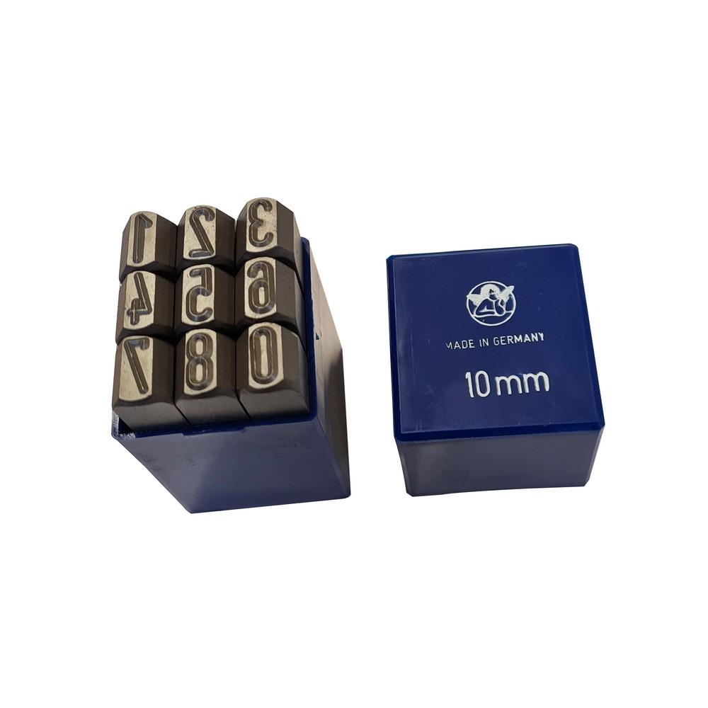 Numeración de golpe 10mm set 9 pzas