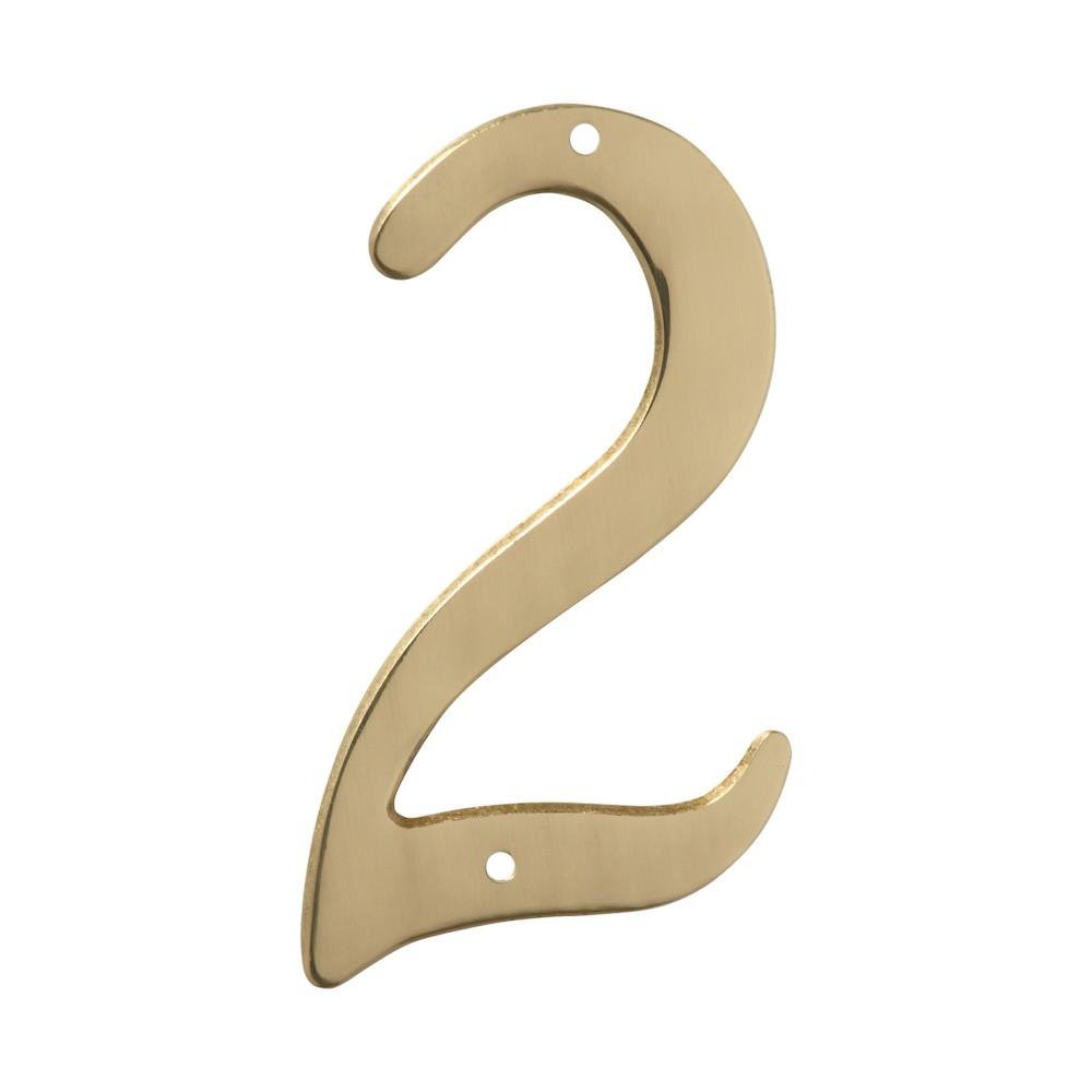 Número 2 dorado de 4 pulgadas