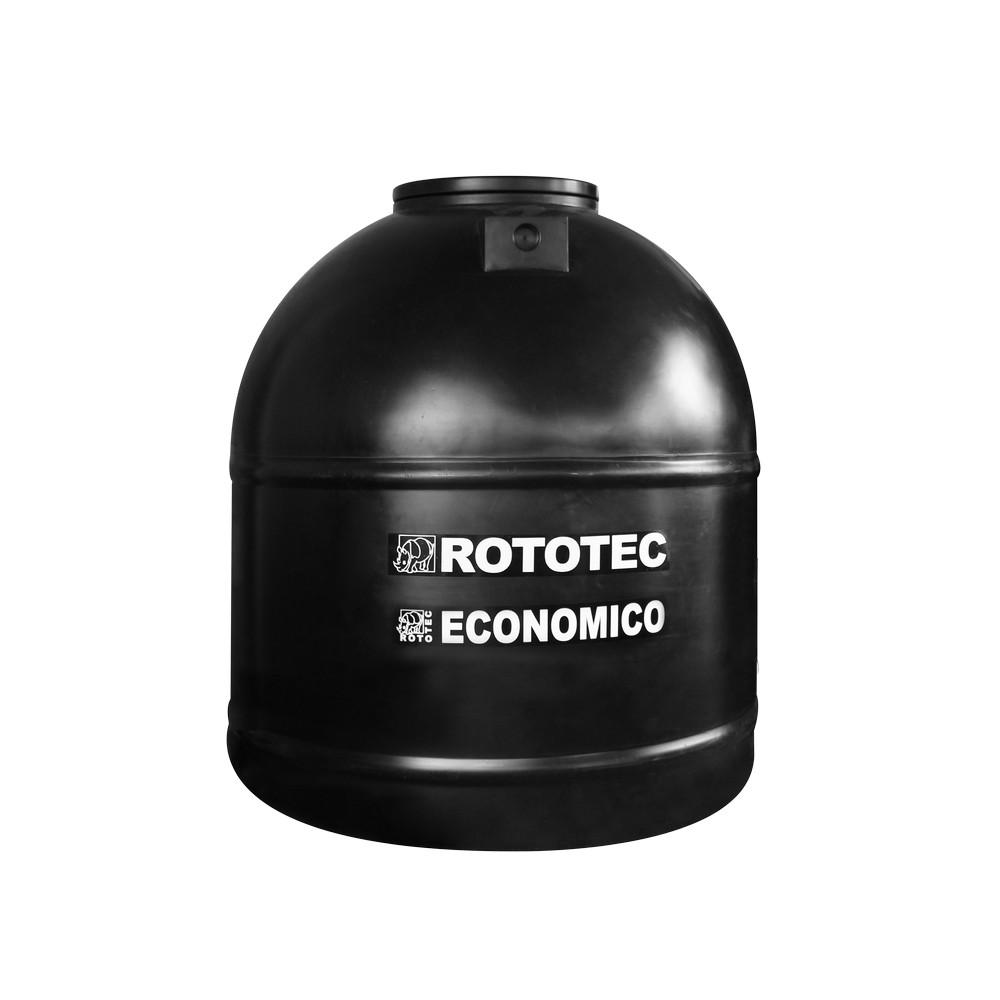 Tanque de 1,700 litros negro con válvula flotadora
