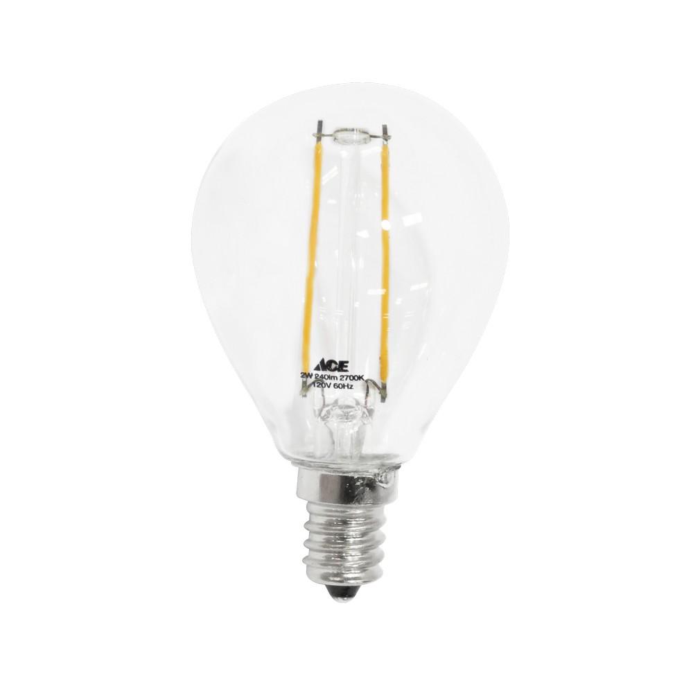 Foco led filamento 2w globo
