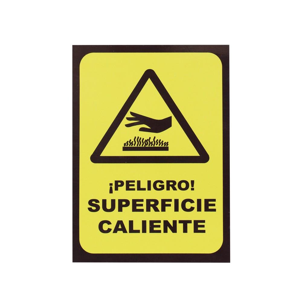 ROTULO PELIGRO SUPERFICIE CALIENTE 20X30CM