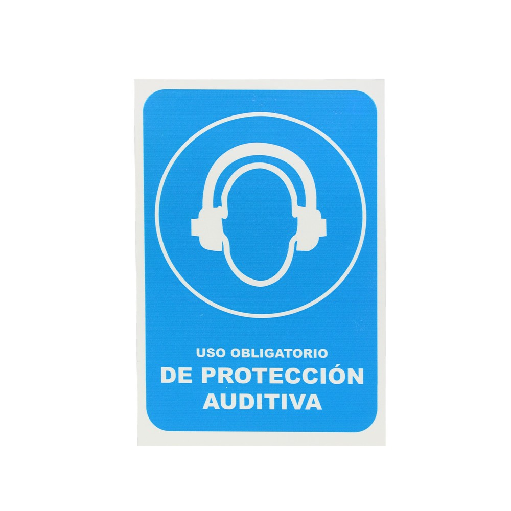 Rotulo uso obligatorio de protección auditiva