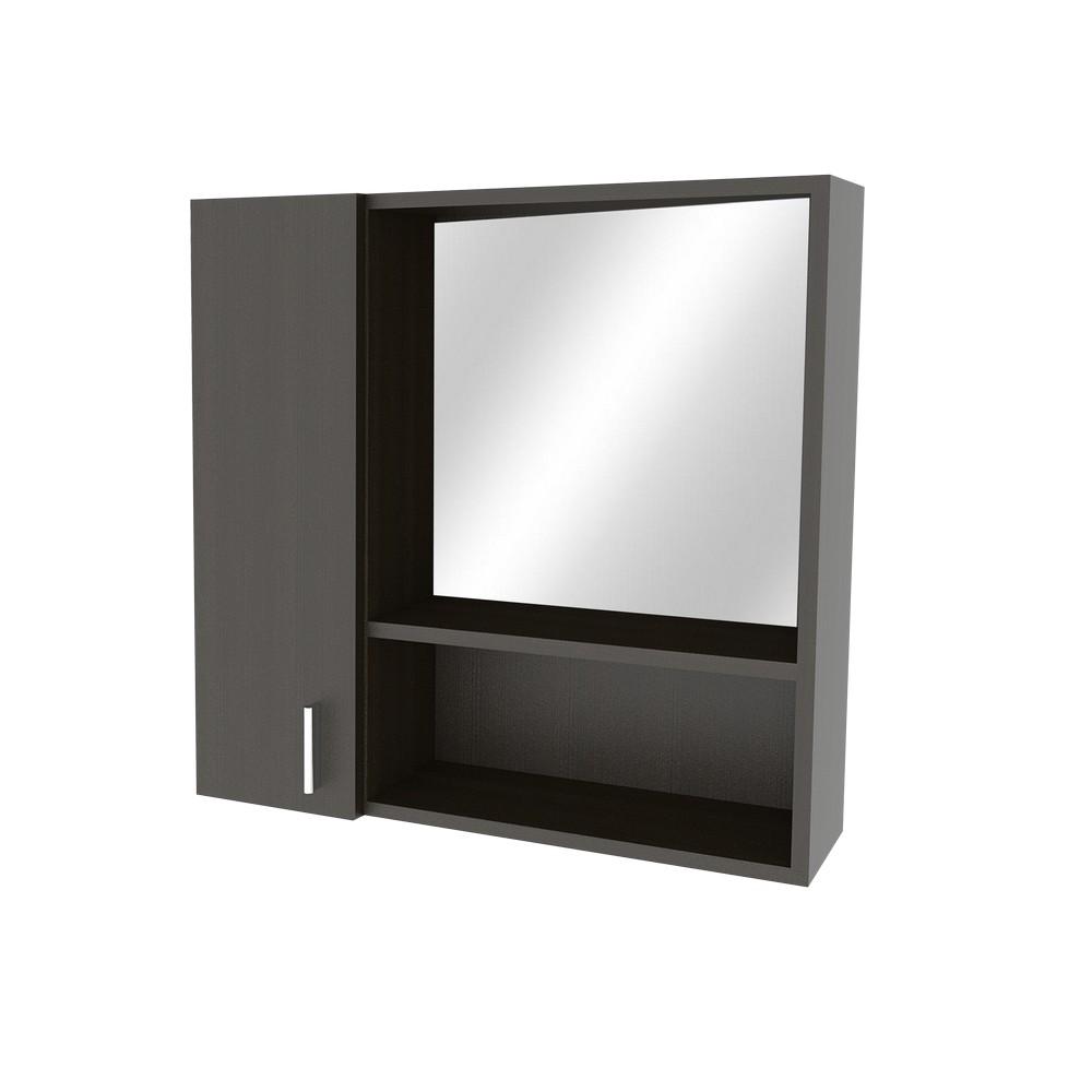 Gabinete para ba o acabado roble wengu con espejo for Repisas para bano rimax