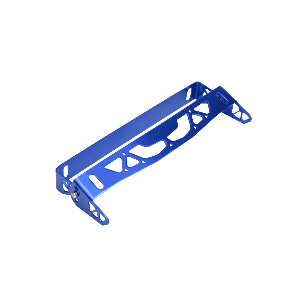 Soporte ajustable azul para placa de carro