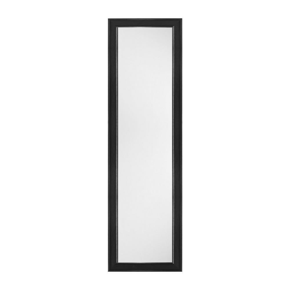 Espejo tipo puerta con marco negro, 12x48 pulgadas - Espejos |