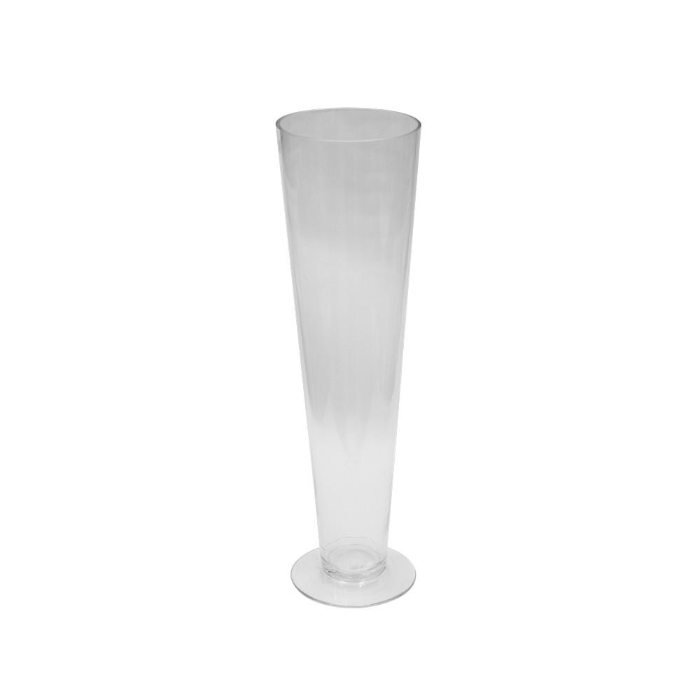 Florero de vidrio copa