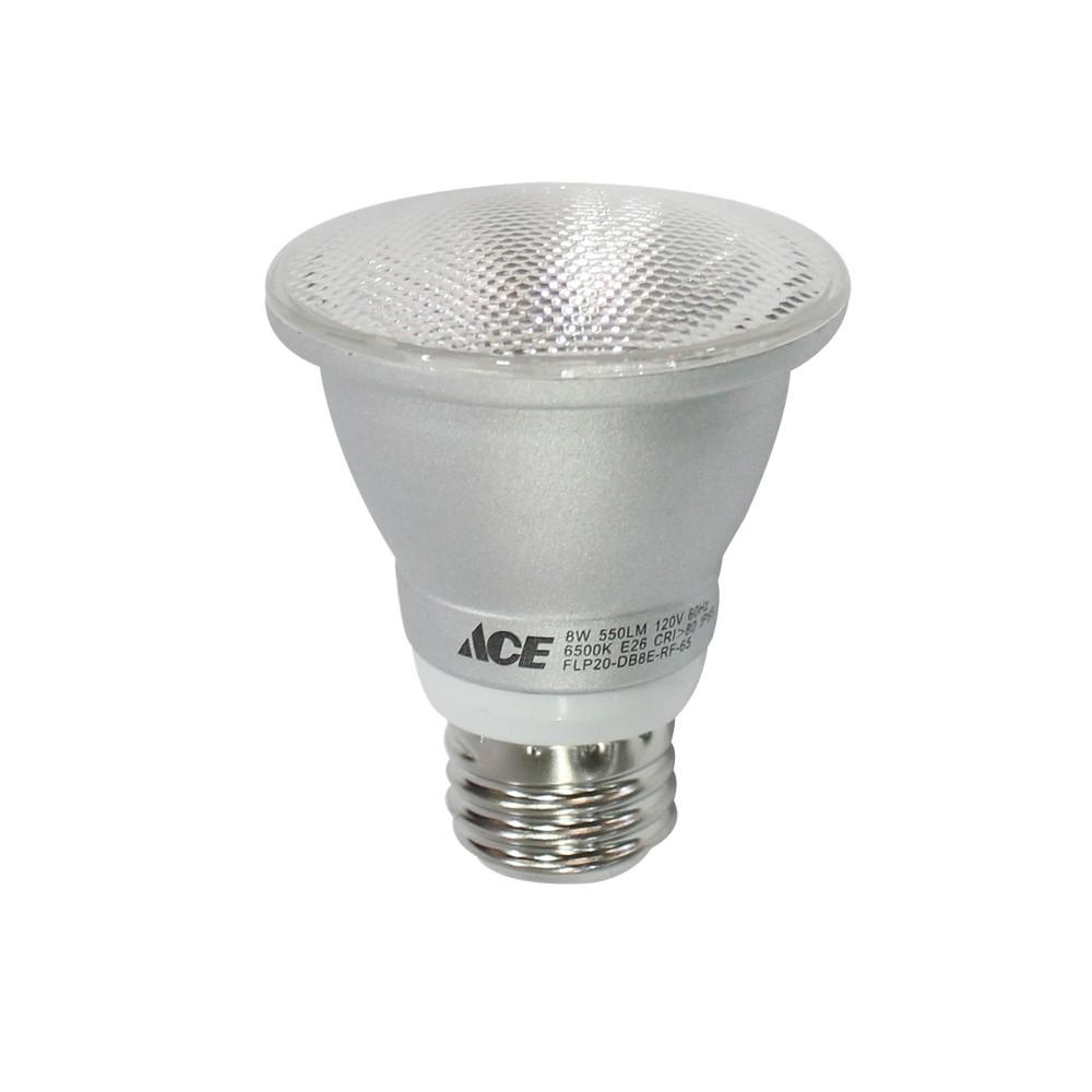 Reflector led de 7 watts par20 base e27, luz blanca de 6500º kelvin, 120 voltios.