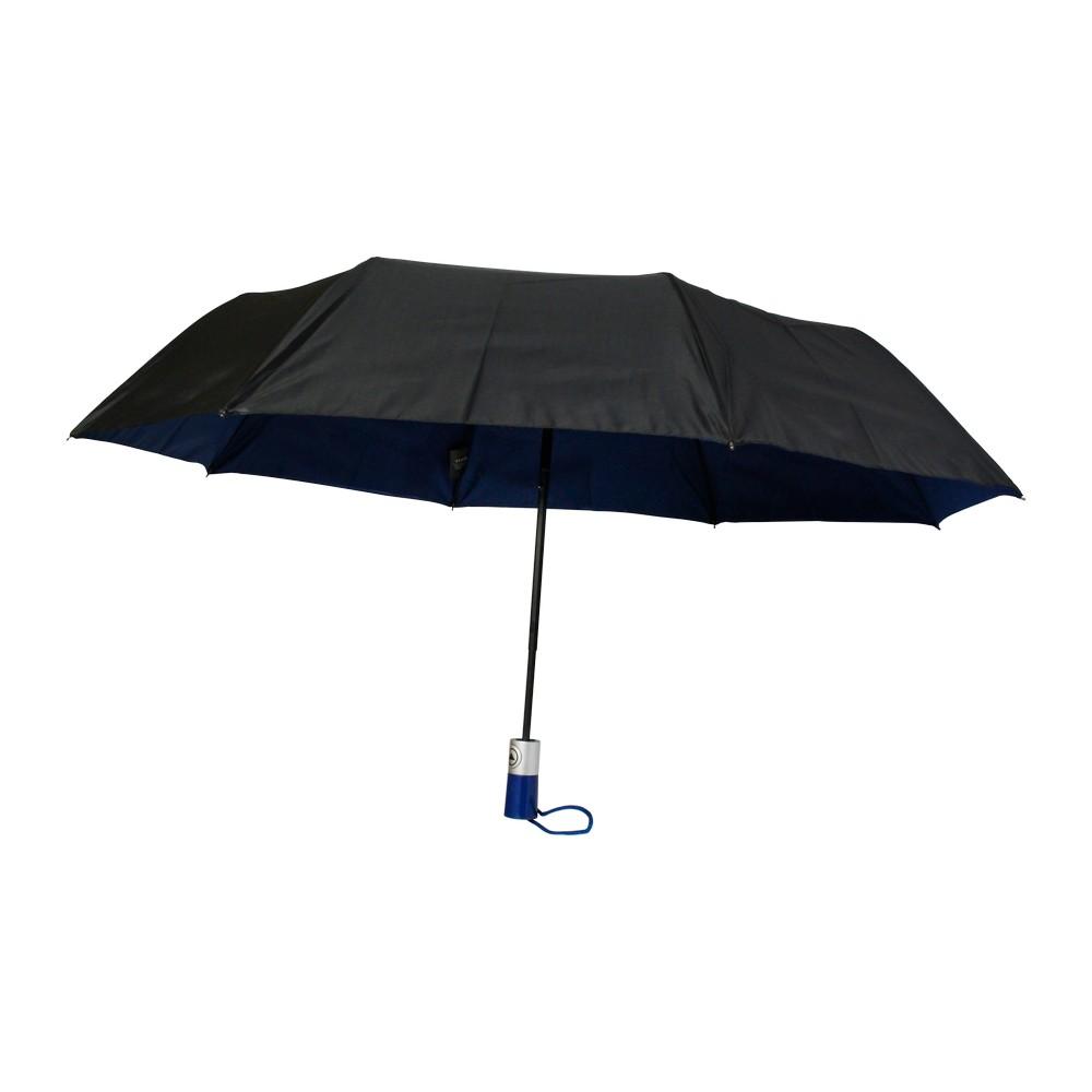 Sombrilla automatica doble tela negro azul