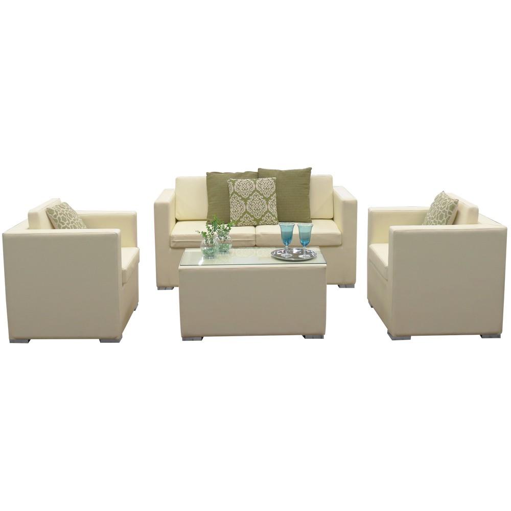 Mueble de sala blanco