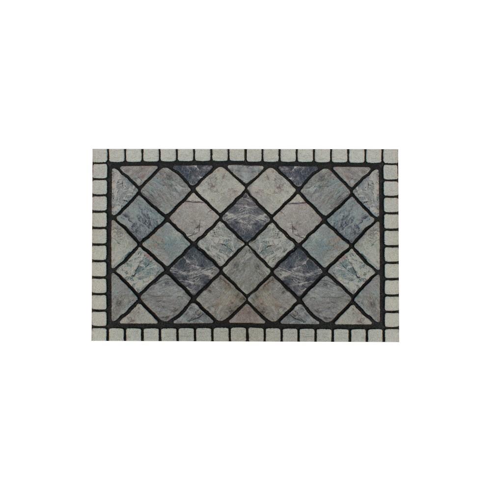 Alfombra piedra gris de 16x24 pulgadas