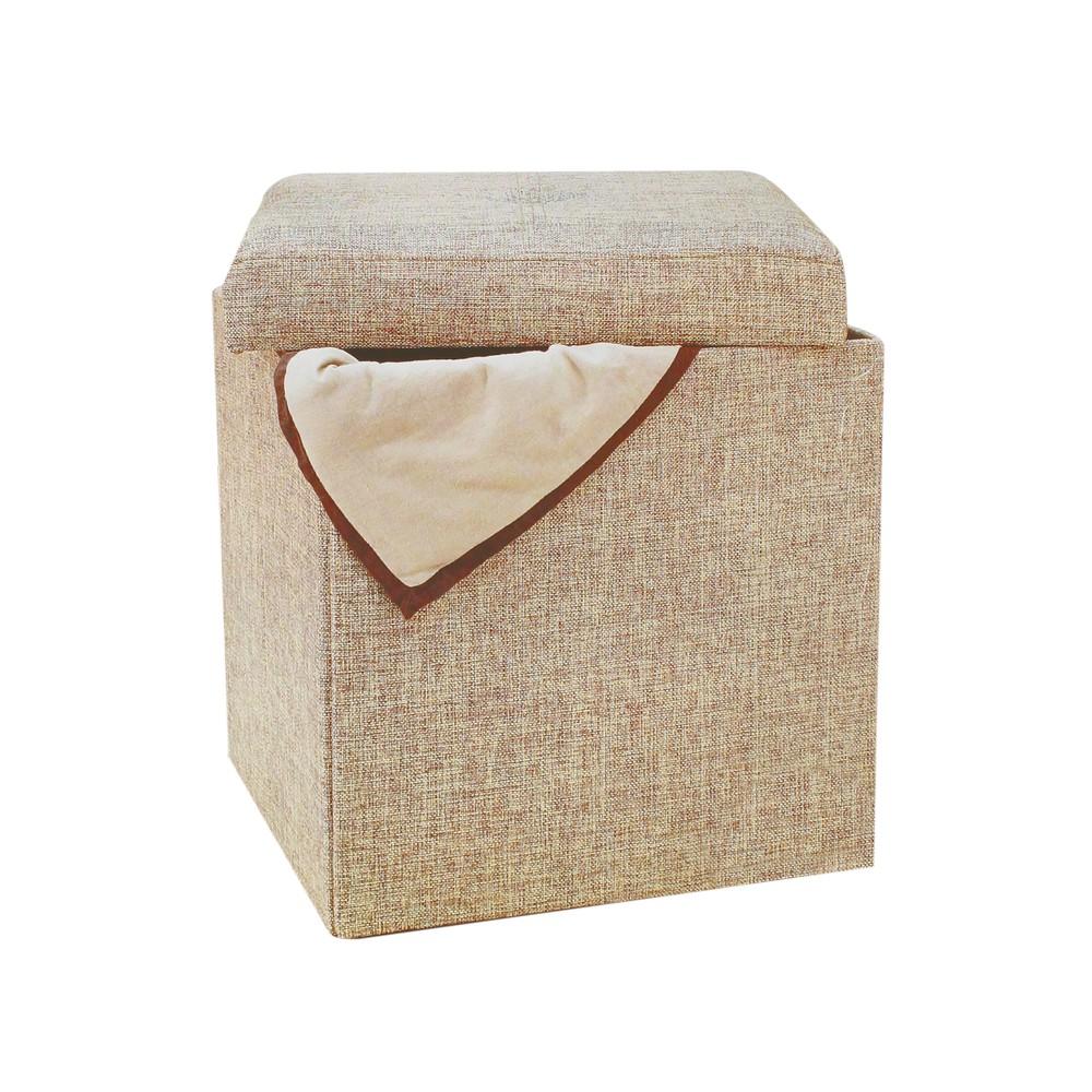 Caja plegable beige
