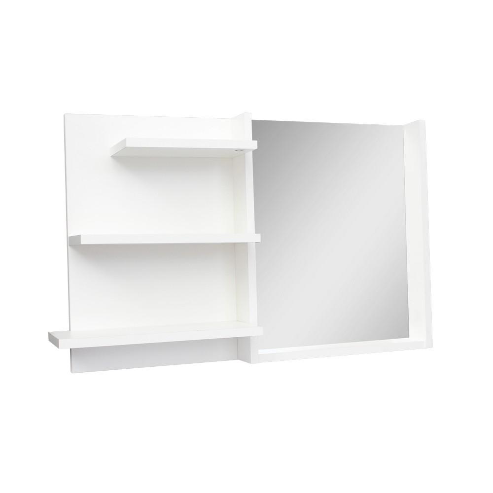 Espejo Para Bano Supra Con Repisas Color Blanco Espejos Para