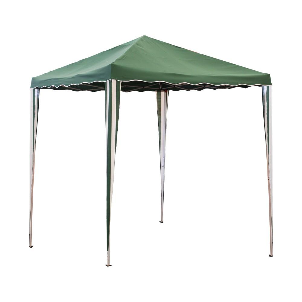 Gazebo extensible color verde, 3x3 metros.
