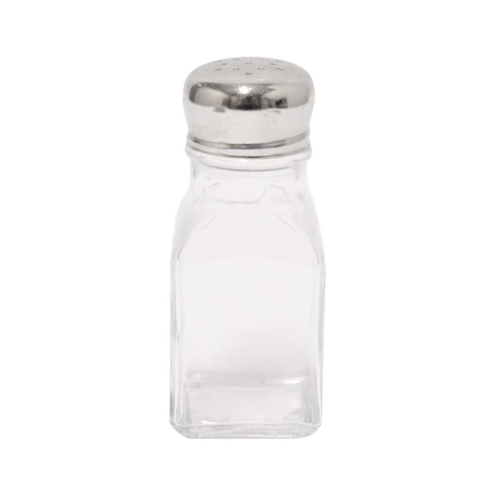 Recipiente de vidrio, ideal para sal o pimienta.