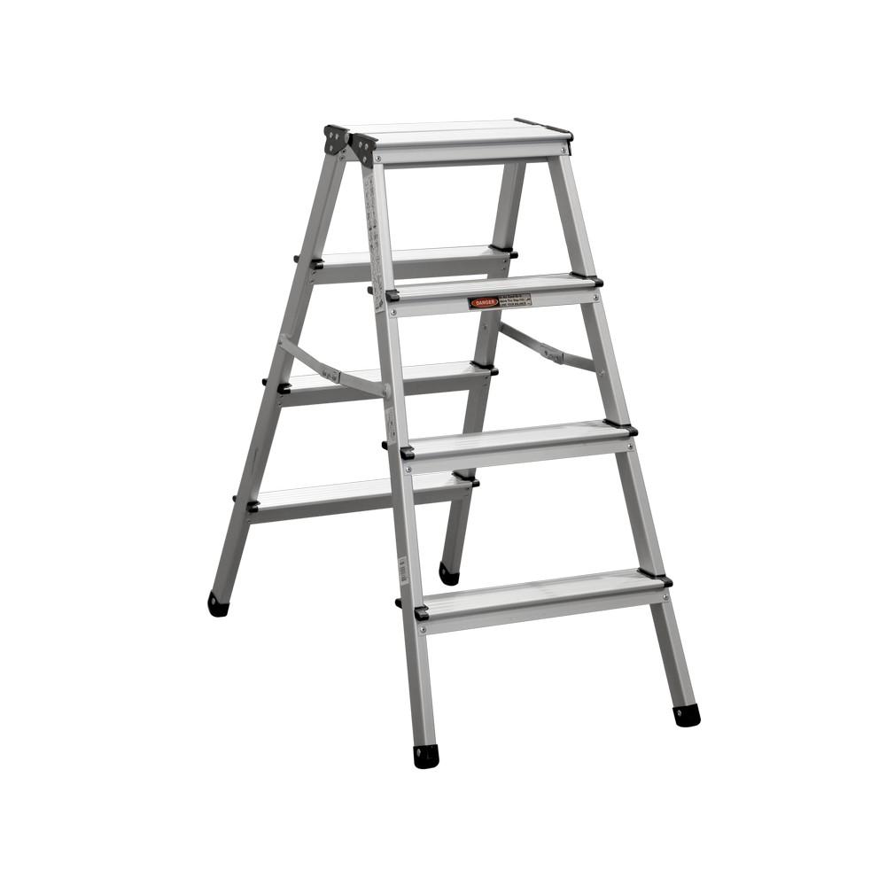 Escalera de aluminio de 2 bandas 4 pelda os 150 for Escalera aluminio 2 peldanos