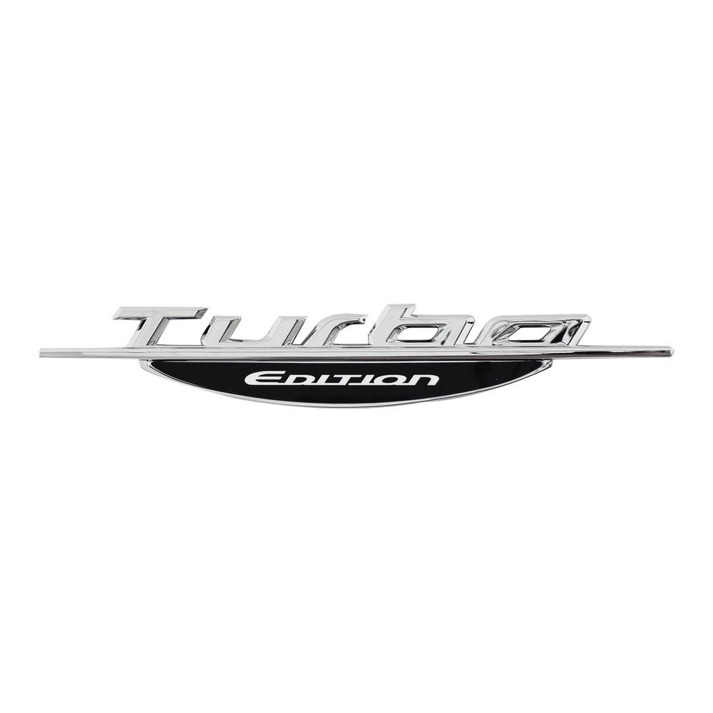 Emblema adhesivo para carro turbo edition