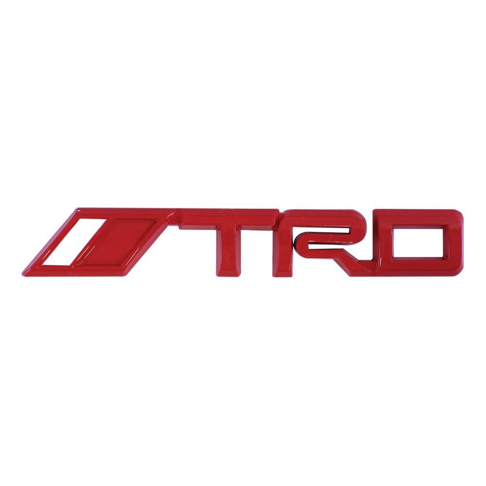 Emblema adhesivo para carro trd rojo