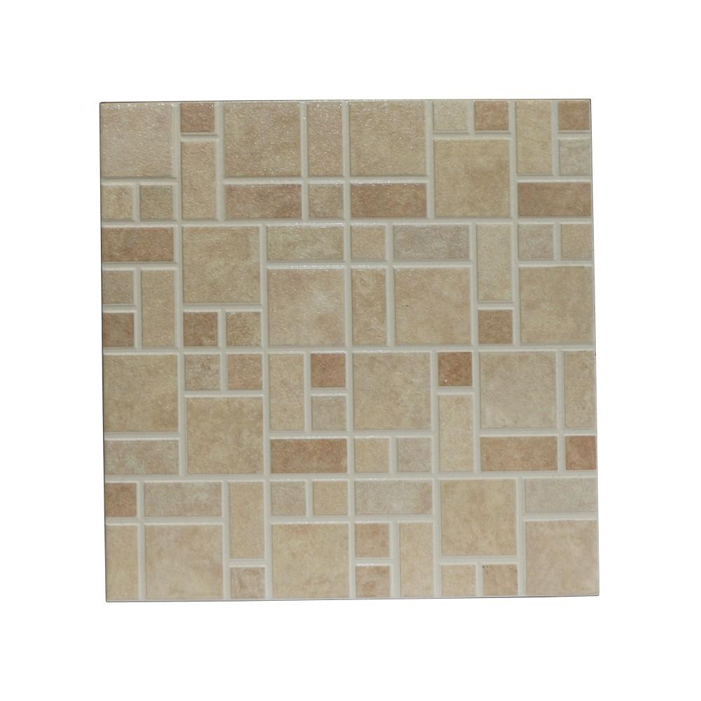 Cerámica de piso 33x33 cm mosaico ebro beige