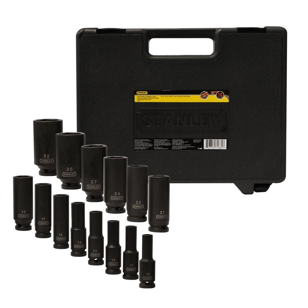 Cubos de impacto, 1/2 pulgadas de largo, set de 14 piezas
