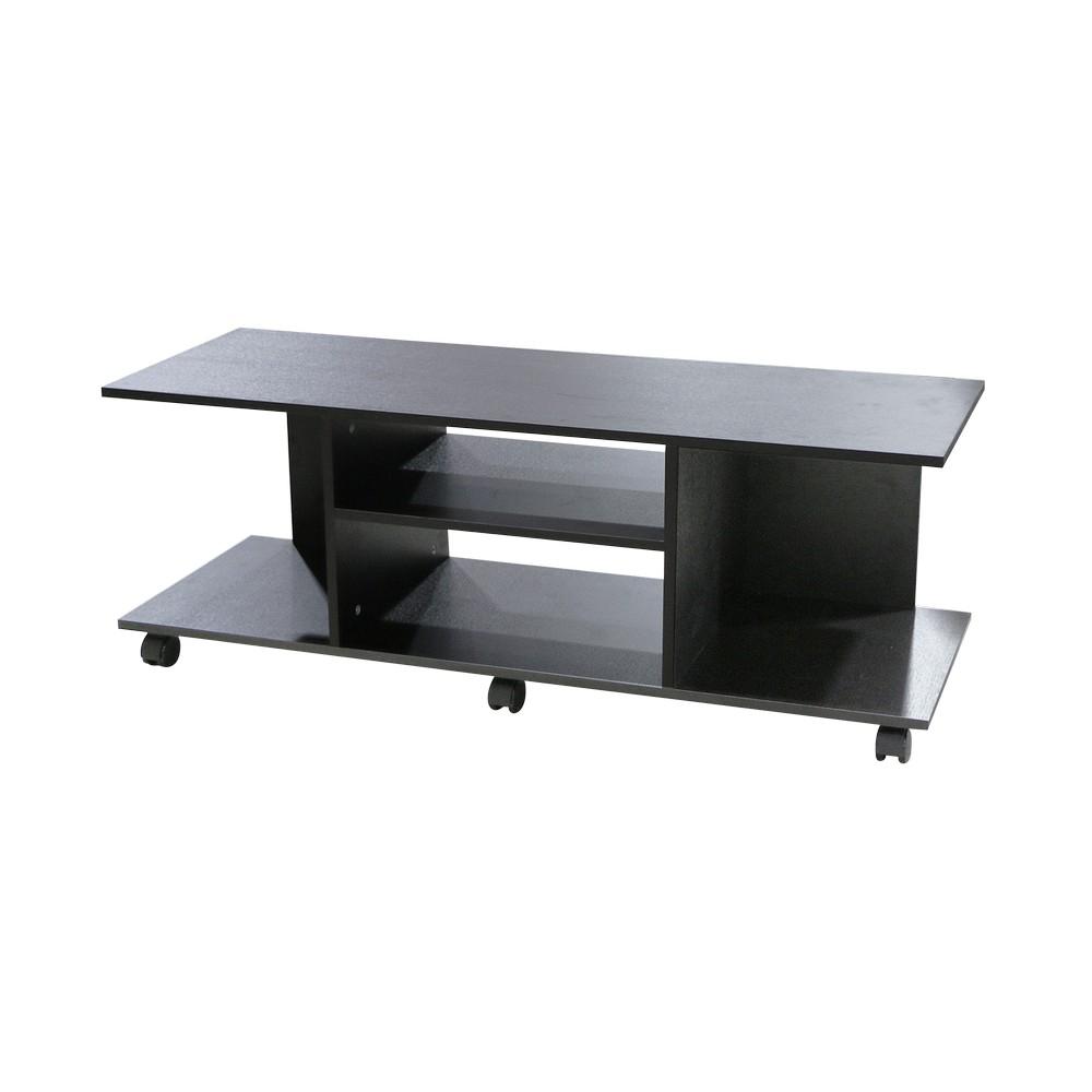 Mueble para tv de 40 pulgadas acabado wengu negro for Mueble organizador de 9 cubos