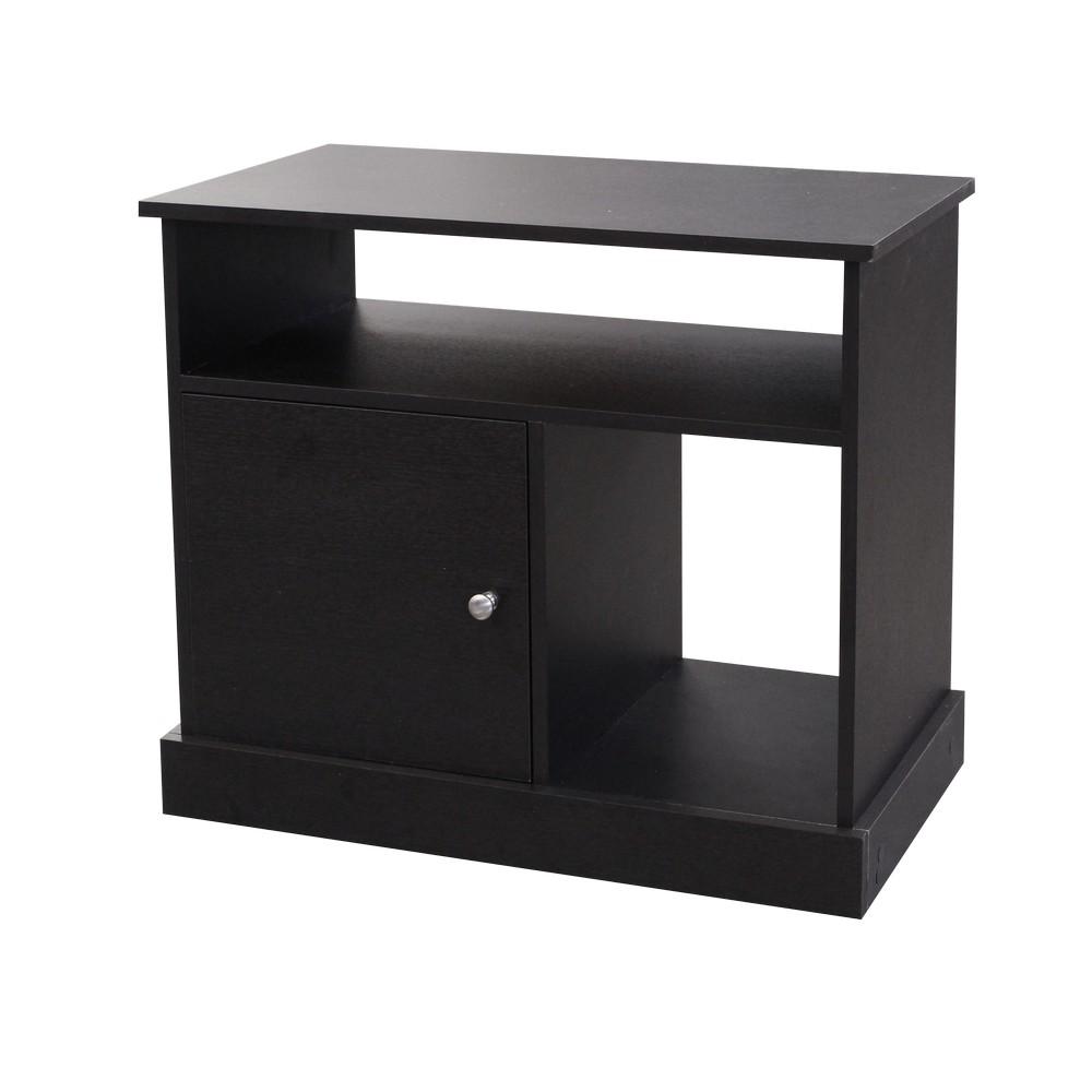 Mueble para tv de 32 pulgadas acabado wengu negro for Muebles pequenos para tv