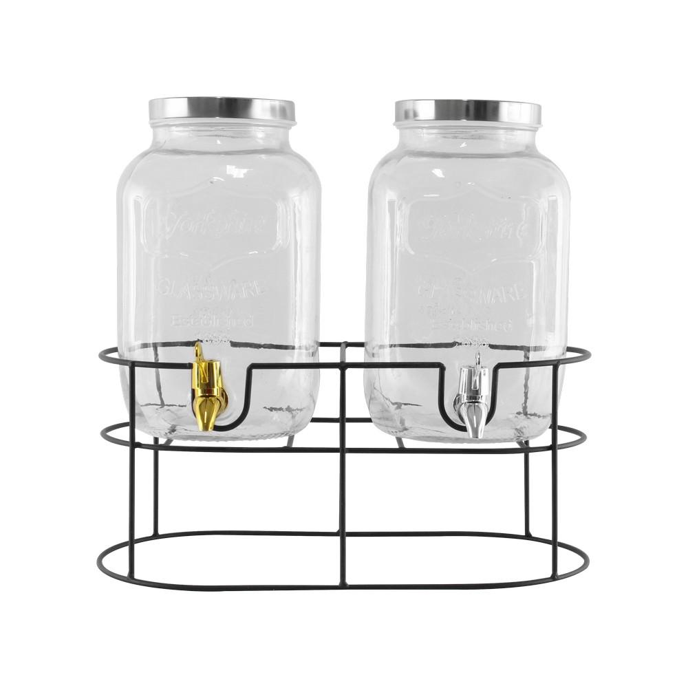 Dispensador para refrescos vidrio base metal sj004 s/2