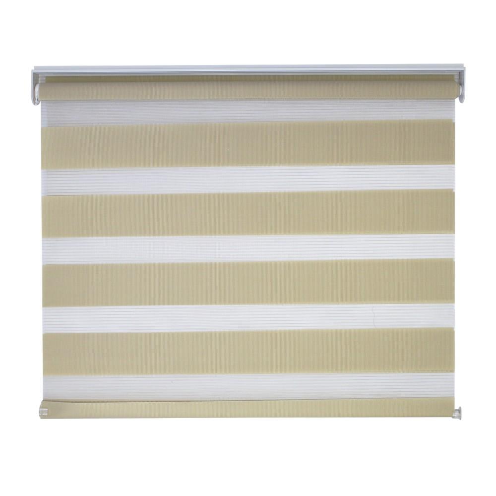 Cortina roller con transparencia 140x170 cm beige