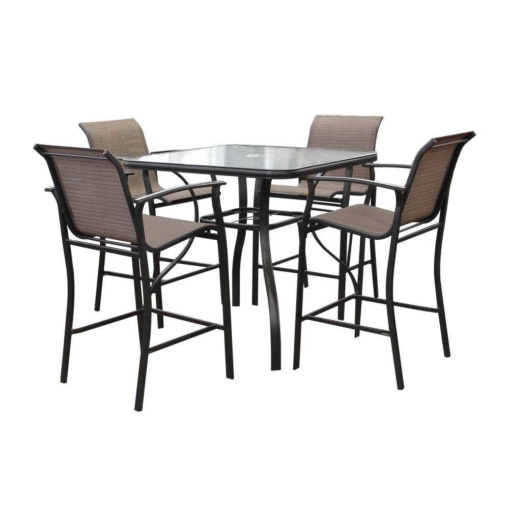 Juego de comedor harrison alto 5 piezas muebles para for Comedor alto