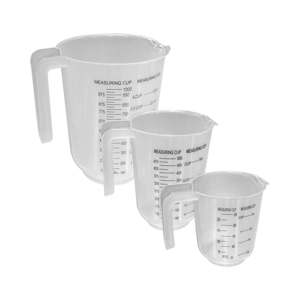 Set tazas medidoras plasticas 3 pzas