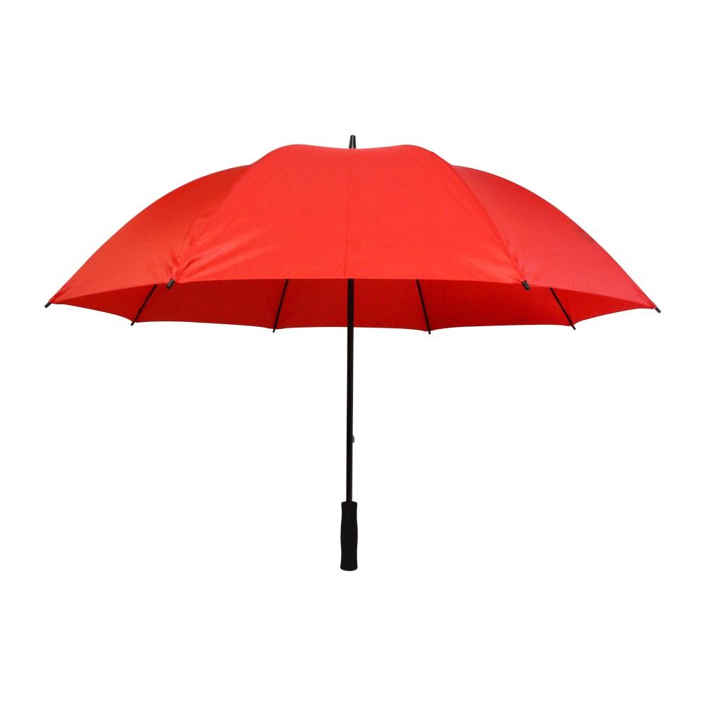 Sombrilla manual golf roja