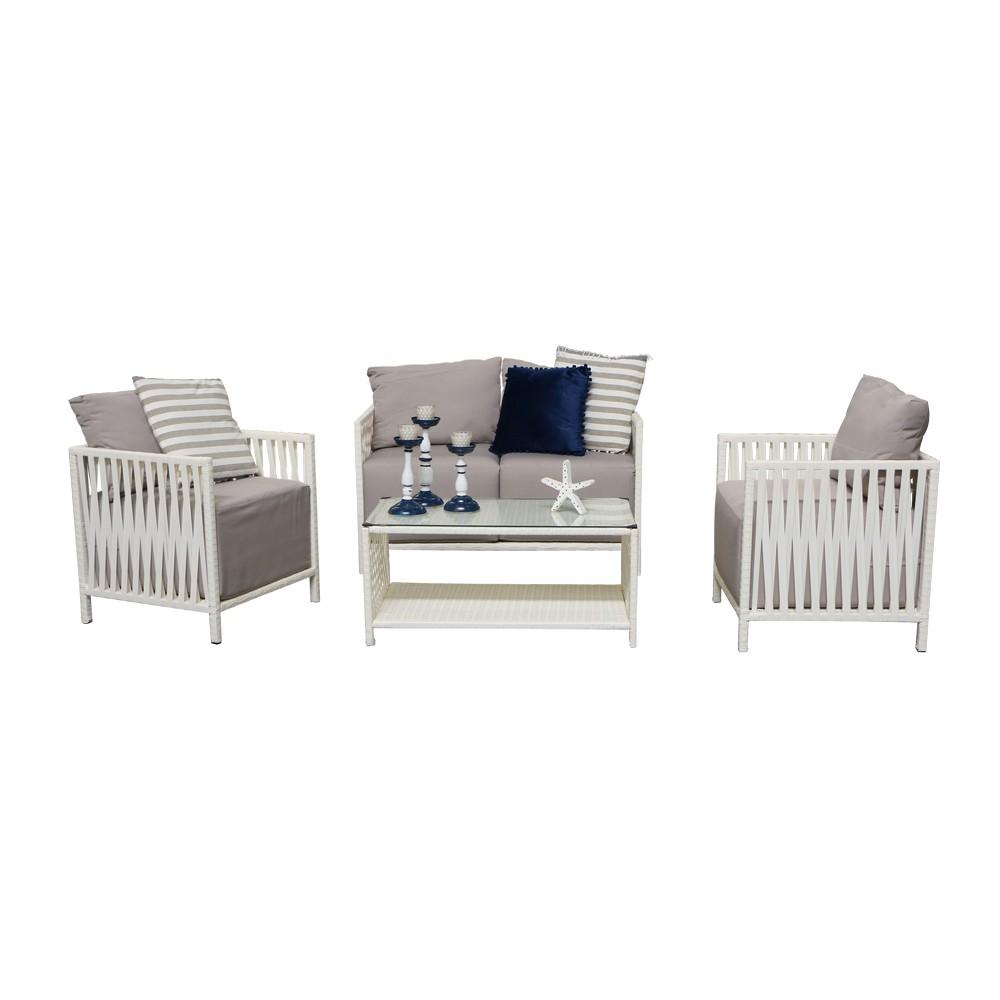 Mueble de sala para intemperie color gris muebles for Muebles de sala color gris