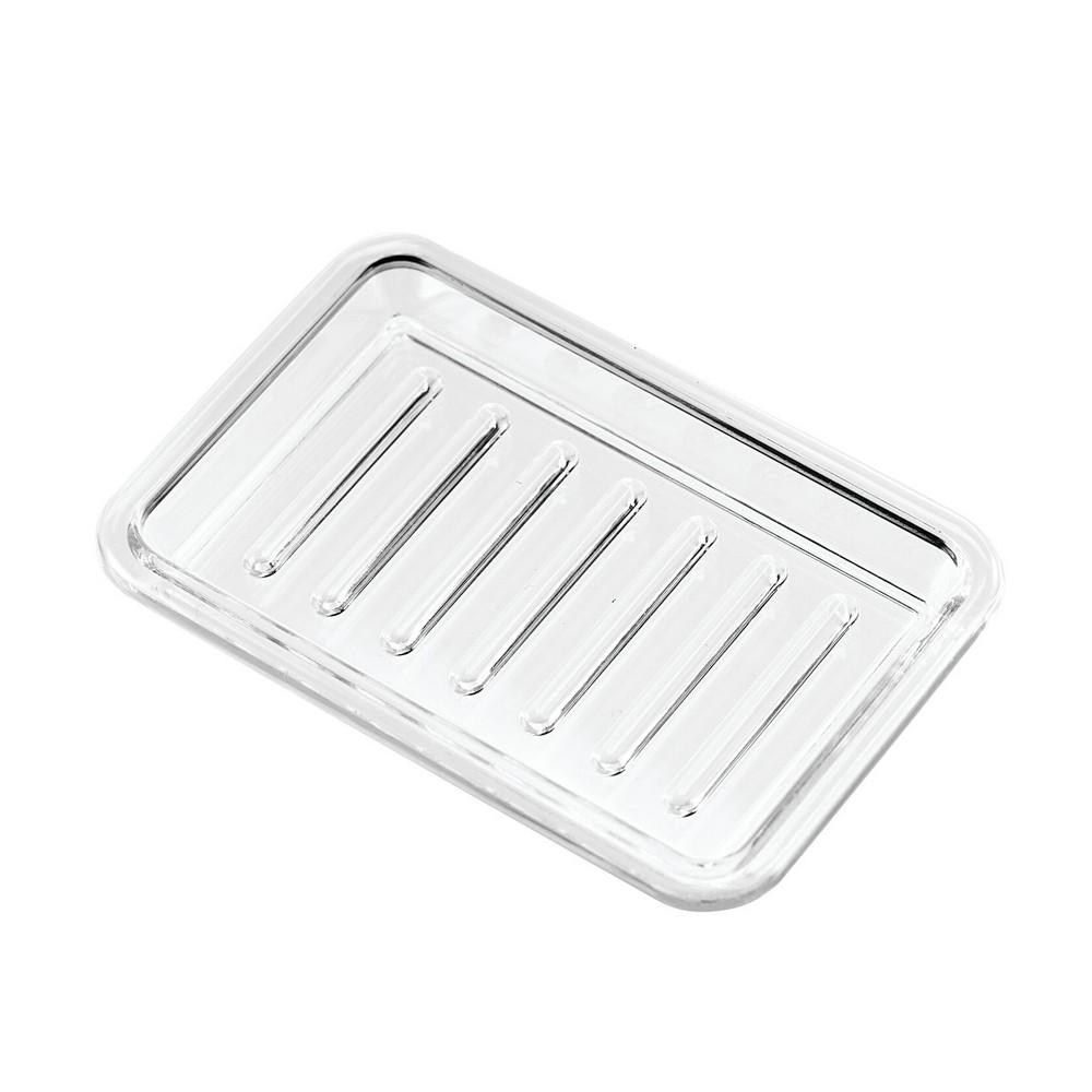 Jabonera para baño plástica transparente