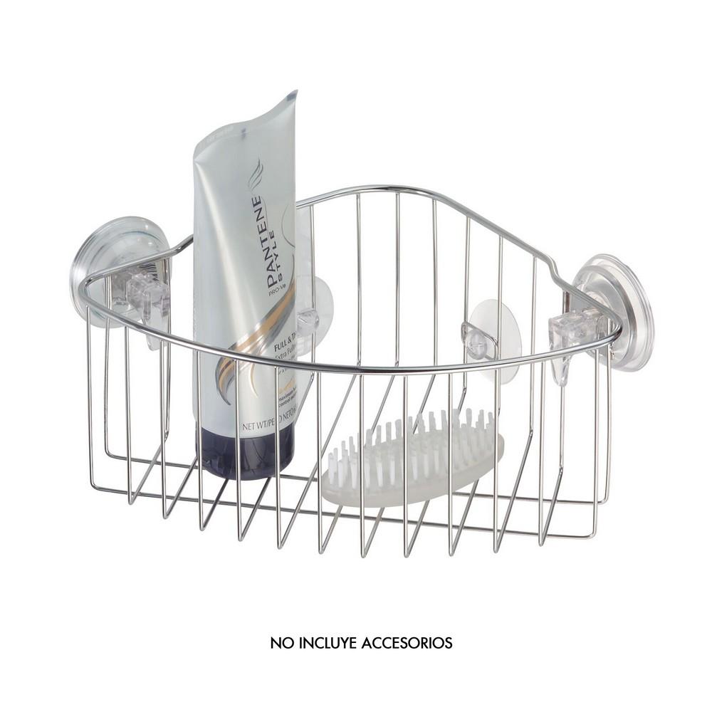 Canasta metálica para baño