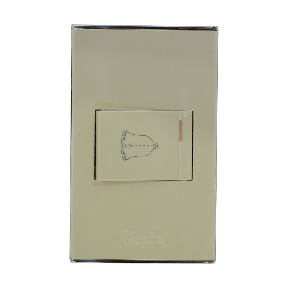 Pulsador para timbre, 10 amperios - 125 voltios.