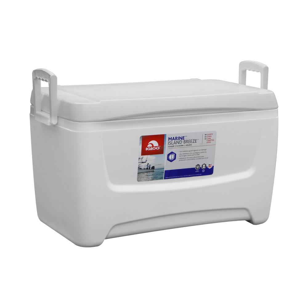 Hielera 48 qt blanca marina rectangular igloo